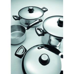 bateria de cocina Alza Montblanc acero inox 8 piezas