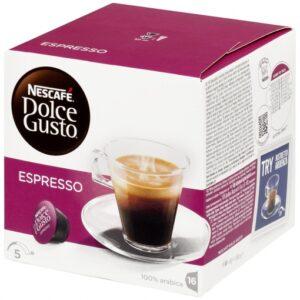 CAFE ESPRESSO 100% ARABICA DOLCE GUSTO 16 CAPSULAS